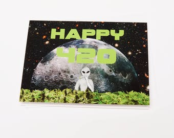 Greeting Card - Moon Flower 420