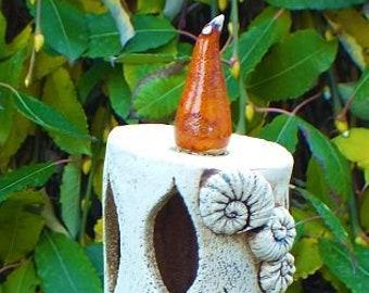 Windlicht Kerze Gartenkeramik Keramik Unikat