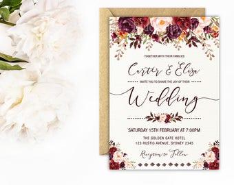 Wedding Invitations Etsy Au