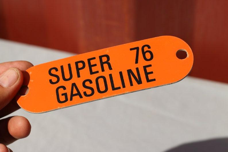 Vintage Original Gas Pump Tag Union 76 Gasoline