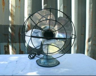 Vintage Aluminum Mid Century Oscillating Fan Not Working