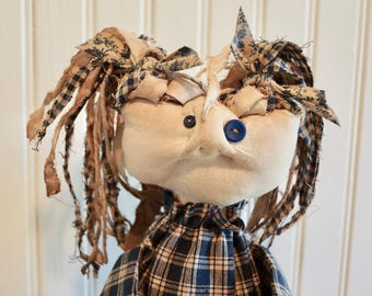 Valentine - Primitive Grungy Shabby Chic Country Rustic Americana Folk Art Doll