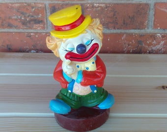 Circus Clown Bank, Vintage Circus Clown Bank, Plastic Clown Bank