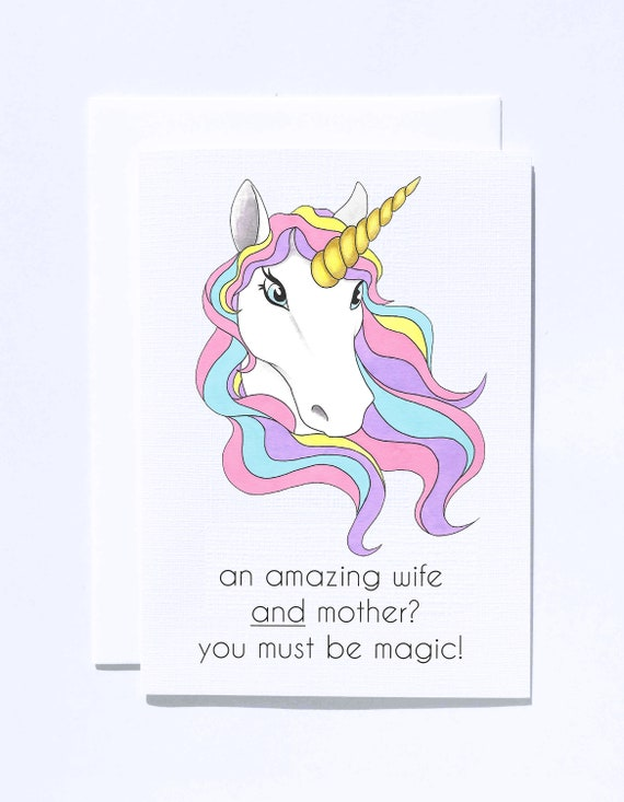 Details about  /Personalised Gifts Birthday Step Mum Mother Framed Keepsake Card Unicorn