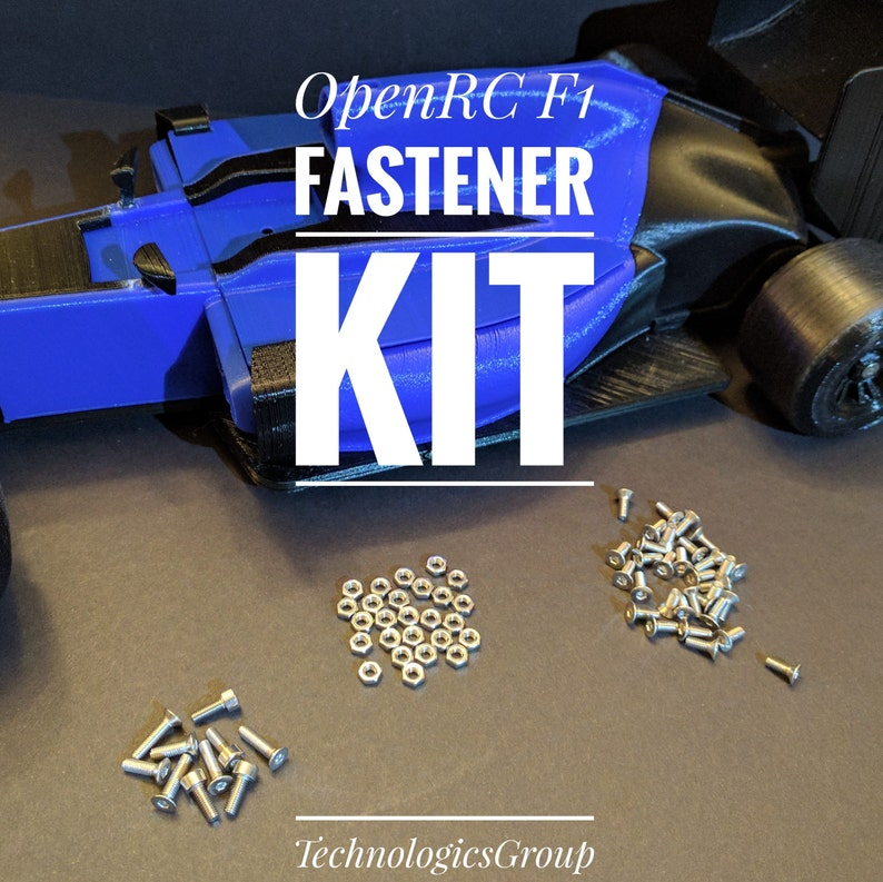OpenRC F1 Fastener Kit  RC Components  3D Printed  RC Car image 0