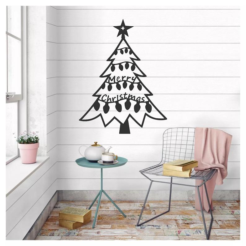 Metal Christmas Tree Wall Art