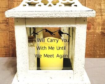 Memorial Lantern - Memory Lantern - Memorial - Loved one - Remembrance lantern - Memory Gift - Lantern - In loving memory
