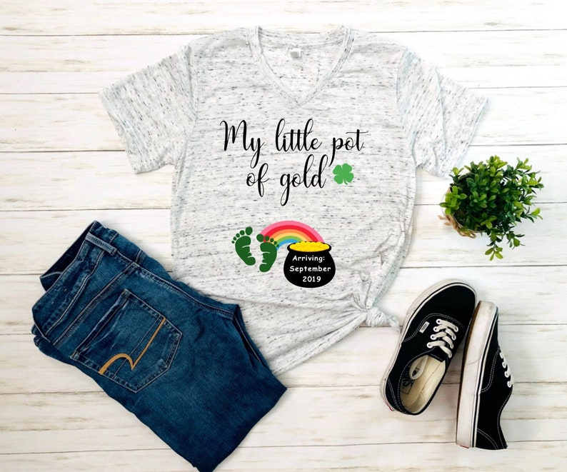 01026a873c0ee My little pot of gold st patricks day shirt pregnancy   Etsy