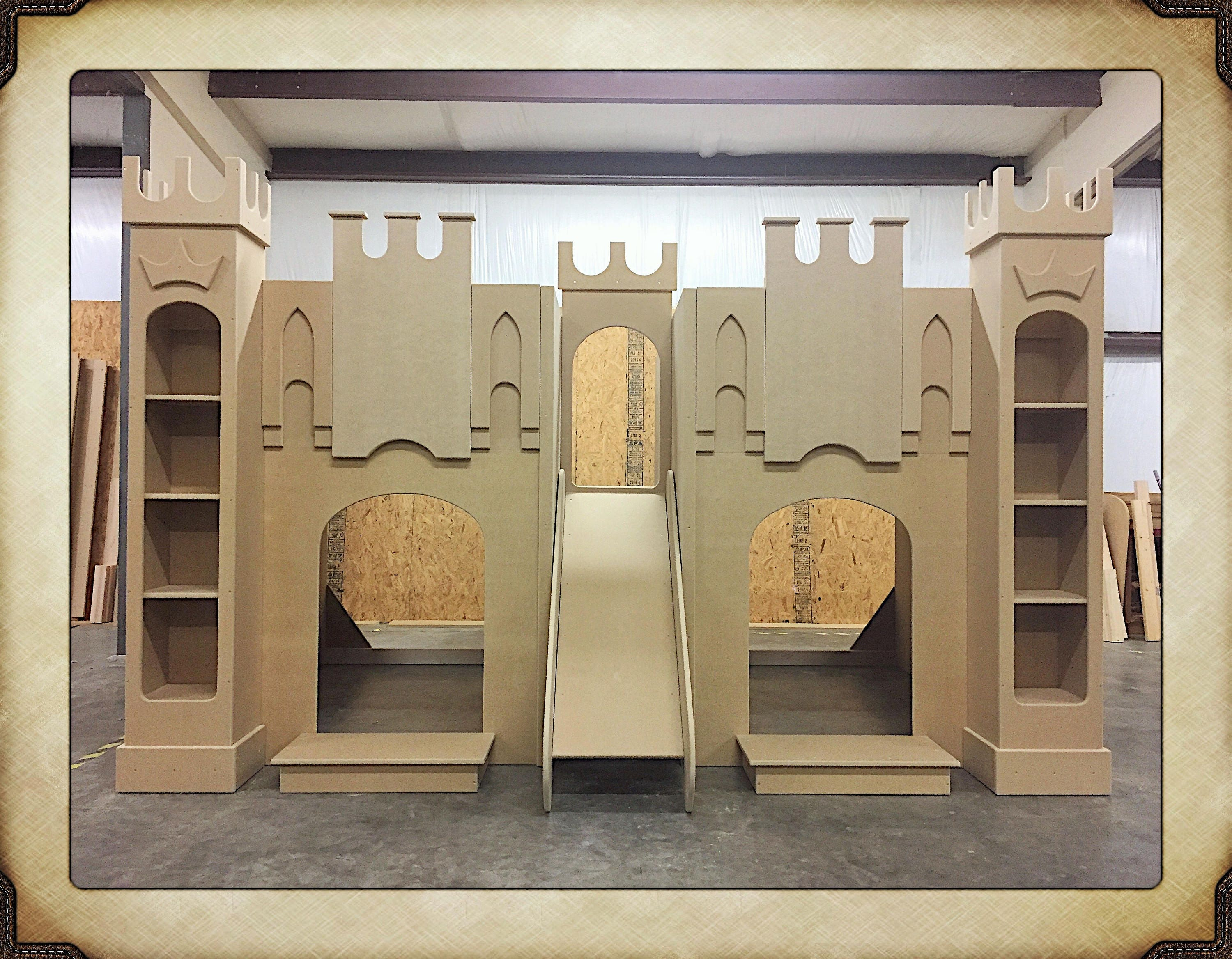 Princess Castle Bed Playhouse Bunk Bed Castle Bed Theme Etsy