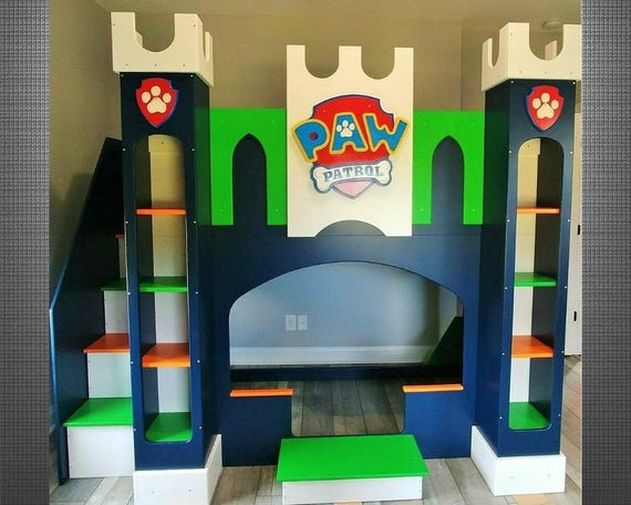 Castle Bed Castle Bunk Bed Playhouse Bed Princess Bed Boys Etsy