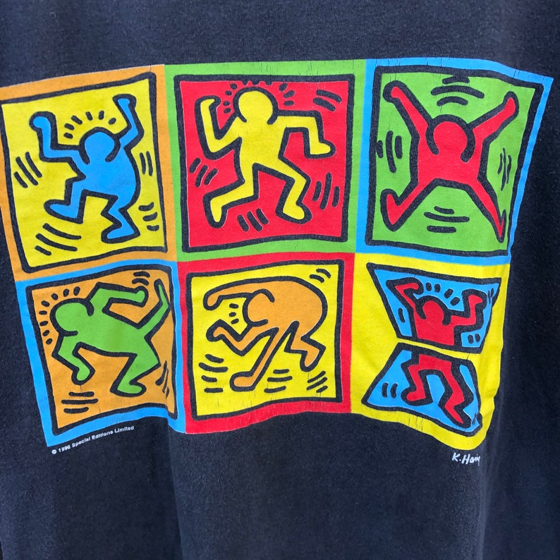 Vintage 90s Keith Haring 1996 Special Edition Limited Tshirt Iconic Street Art
