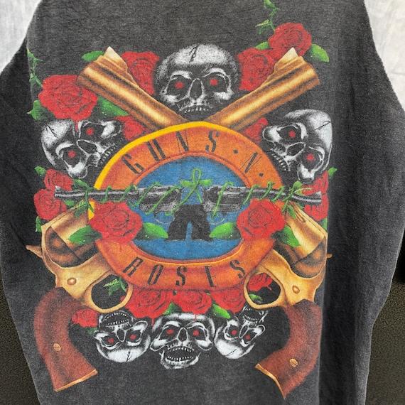 Vintage 90s Guns N Roses Raglan Tshirt , Rock Ban… - image 3