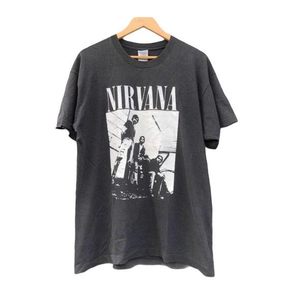 Vintage 90s Nirvana Paint Art Style Promo T Shirt  Grunge Rock 90s  Soundgarden Kurt Cobain  Alternative Music  Sub Pop Size L