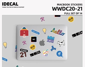 WWDC2020-WWDC2021 same sticker  Full set of 14 and full set of 42