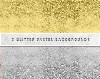 Ombre Glitter Digital Paper, Glitter Watercolor Digital Paper, Shimmer Watercolor Scrapbooking Paper Pack Free Commercial Use, Instant Down