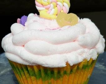 Candyland cupcake bath bomb