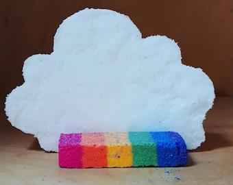 Cloud bath bomb