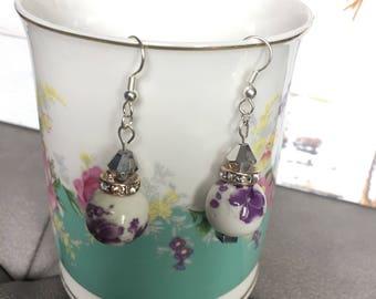 White classic earrings 00002