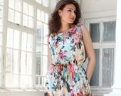 Chiffon Floral Dress, Midi dress for women, Plus size available