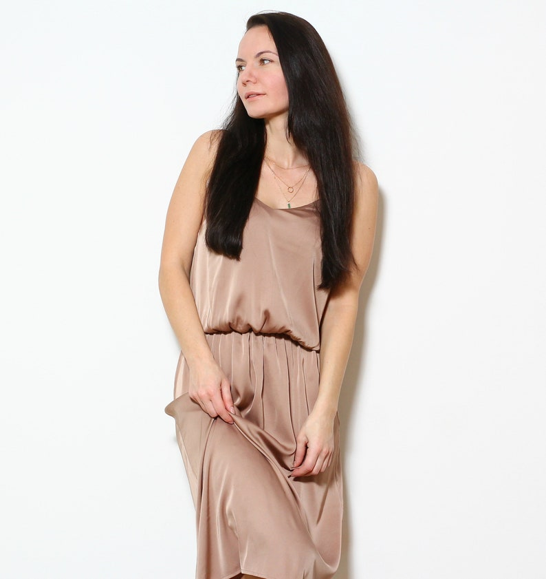 Silk slip dress for women, Bridesmaid dress, Plus size dress available