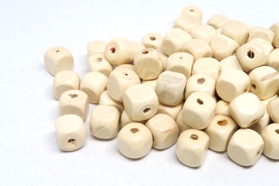 Natural Beads 12mm Turquoise Cube Wood Beads Boho Beads Bulk Bead Beads For Jewelry Large Hole Beads Geometric Beads Square Wood Bead