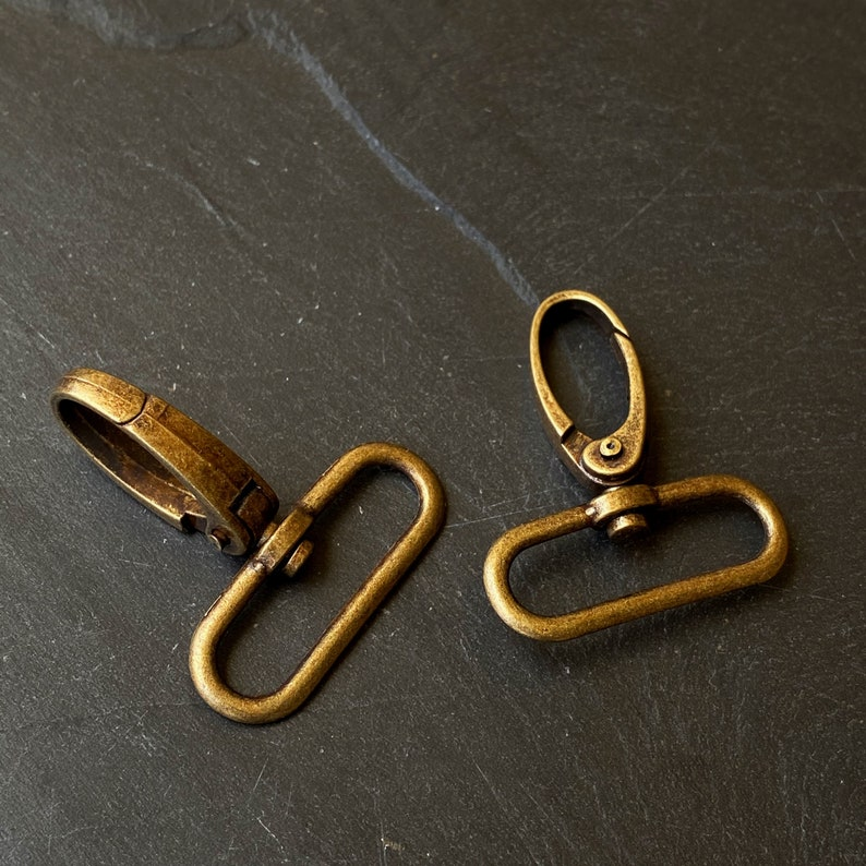 Set of 4 pcs Antique Bronze Swivel Clasp Snap Hooks Clasps For Adding Lanyard Trigger Clasps Gate Hopks For Charms Lobster Clasps For Bag