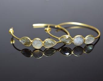 labradorite earring,labradorite hoop earring,grey color earring,gemstone earring,drop studs,gemstone hoop earring ,birthday gift,mother gift