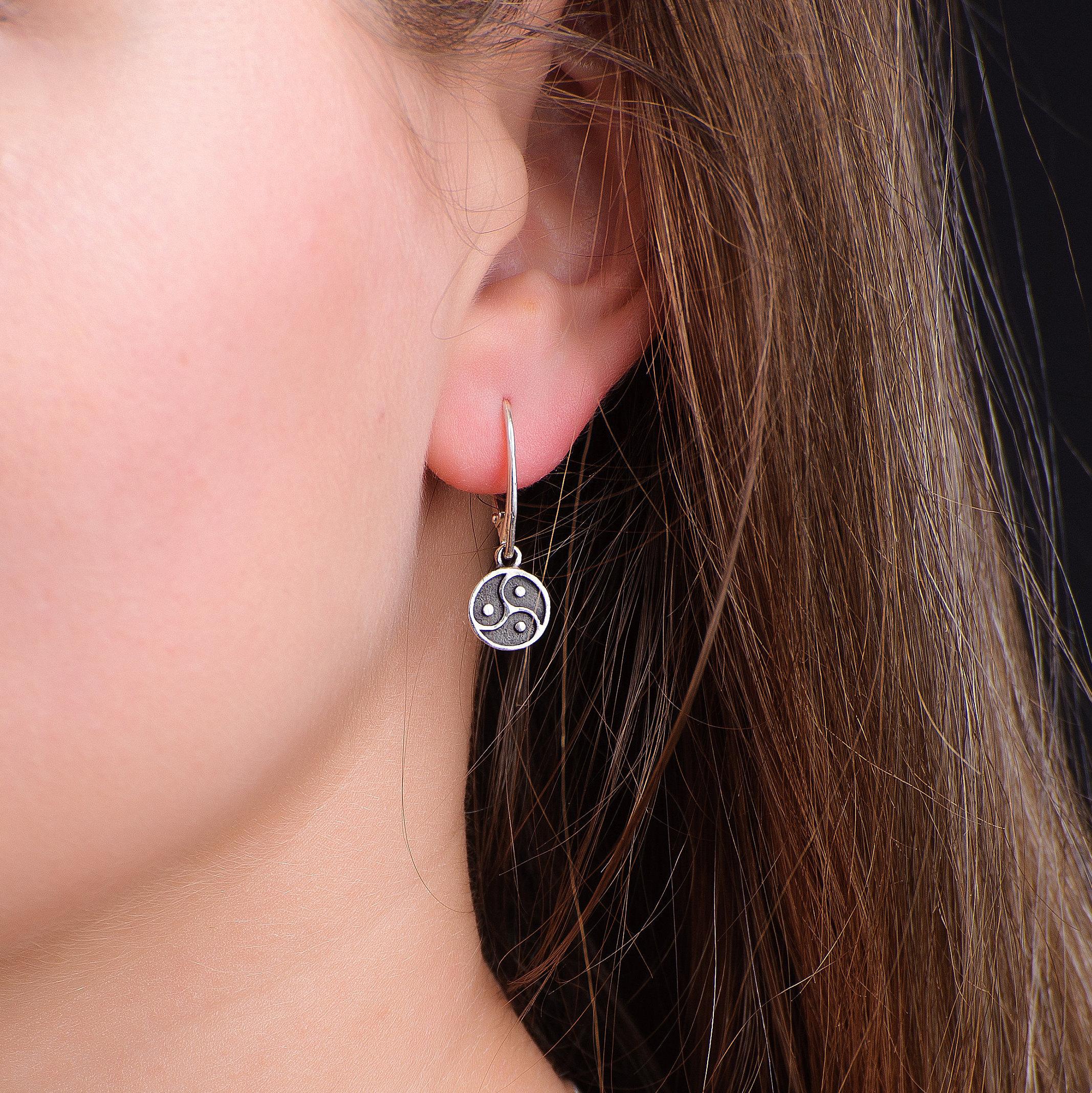 KRISP donne cintura doppio orecchini metallo pelle tendenza