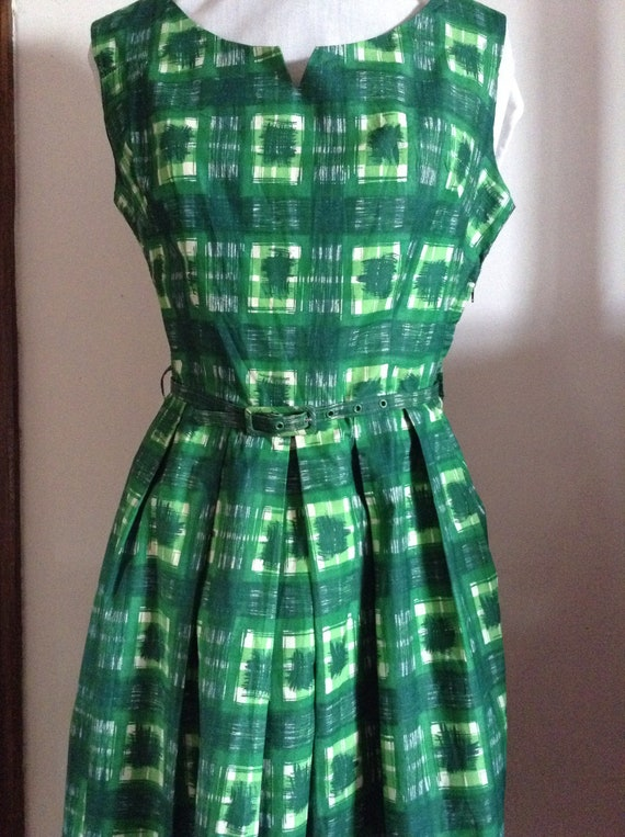 Vintage Original Cotton 1950's Banner Dress