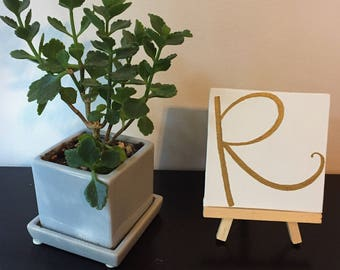 Custom Initial(s) Table Sign with Easel
