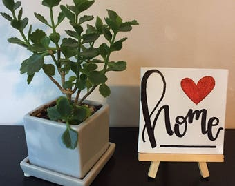 Home Table Sign with Easel