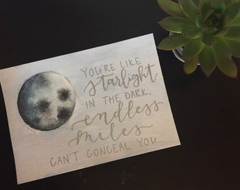 Starlight Lyrics Wall Art