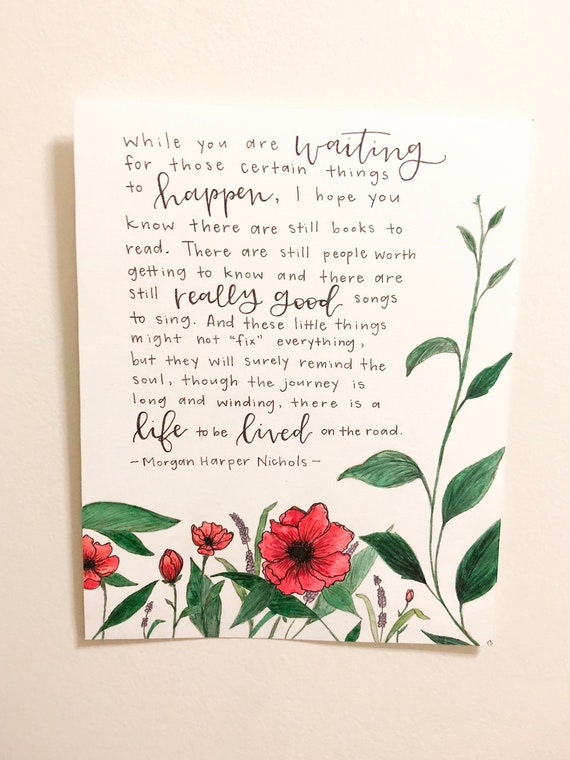 morgan harper nichols quote floral watercolor