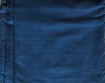 1 yard of Handspun Khadi Natural Indigo Fabric / khadi / indigo / yardage / fabric / indigo yardage / khadi yardage / handspun yardage