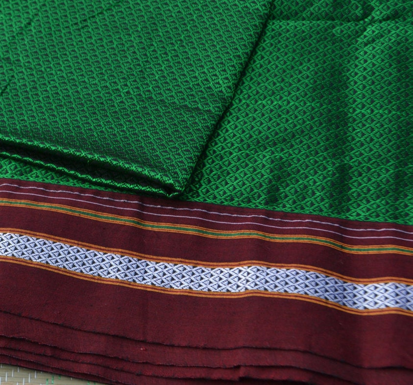 zoom 1 yard of rare handloom fabric