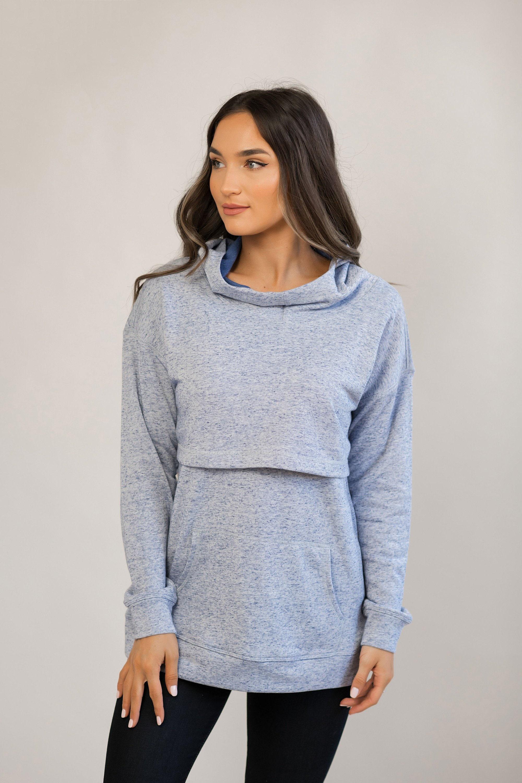905baa27e1e90 Nursing Hoodie for Breastfeeding Lift Up Flap Sweatshirt | Etsy