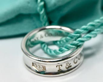 Elegant Tiffany and Co 1837 Collection Sterling Band