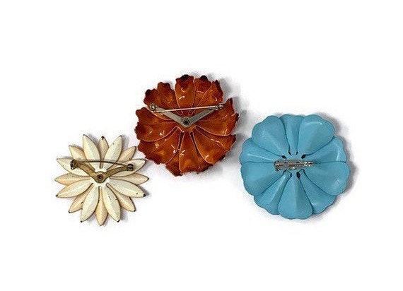1960/'s Flower Pin Hippie Style Large Flower Pin Vintage Jewelry Vintage Large Metal Flower Brooch Rockabilly Style Jewelry