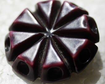Deep Red Plastic Button