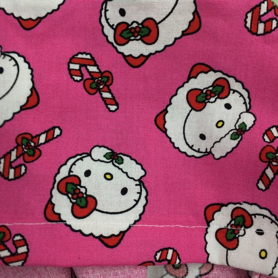 Scrub  hat caps Designer scrub hats my little kitty Christmas santa snow flakes candy canes reg one size fits most free shipping