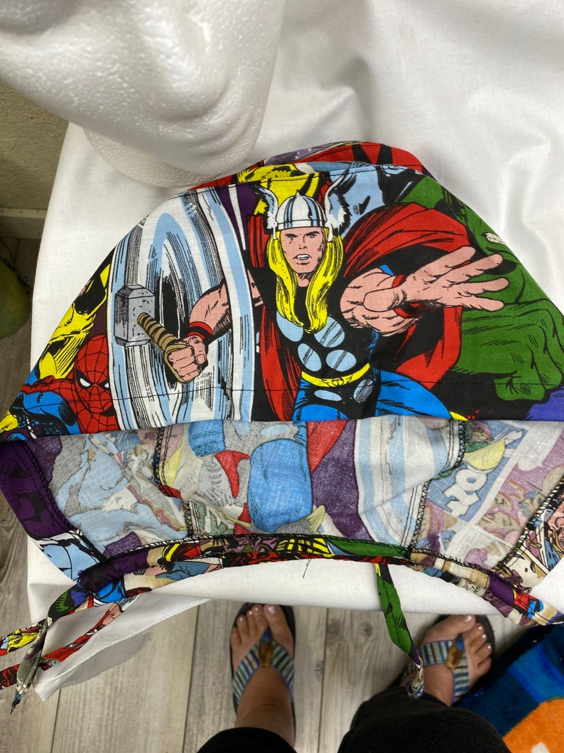 hulk ,Thor like Marvel Scrub hats spider man shops free wolverine Captain  American caps