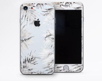 IPhone 7 Cover iPhone 6 Skin Marble Leaves iPhone 8 Decal Gray Marble Decal IPhone 7 Plus Sticker IPhone SE Decal IPhone 8 Plus Skins DR3662