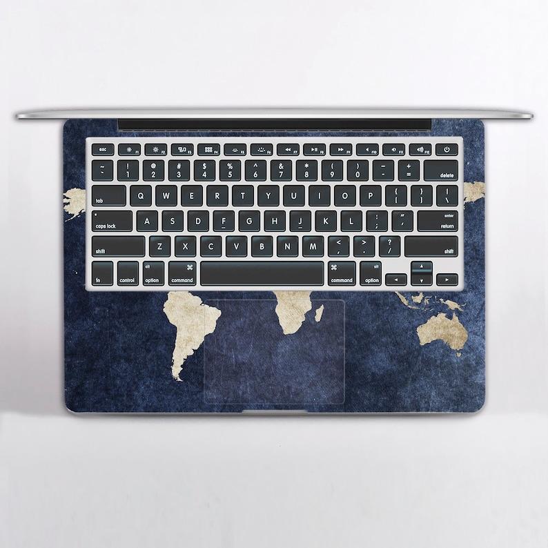 World Map Macbook Sticker Macbook 12 Mac Decal Macbook Air 11 Macbook Pro 13 Cover Macbook Air 13 Decal Macbook Pro 15 Cover DR3651
