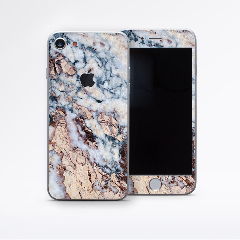 Phone Skin iPhone X Skin IPhone 8 Plus Skins Brown Marble Case  8d0b6576c5