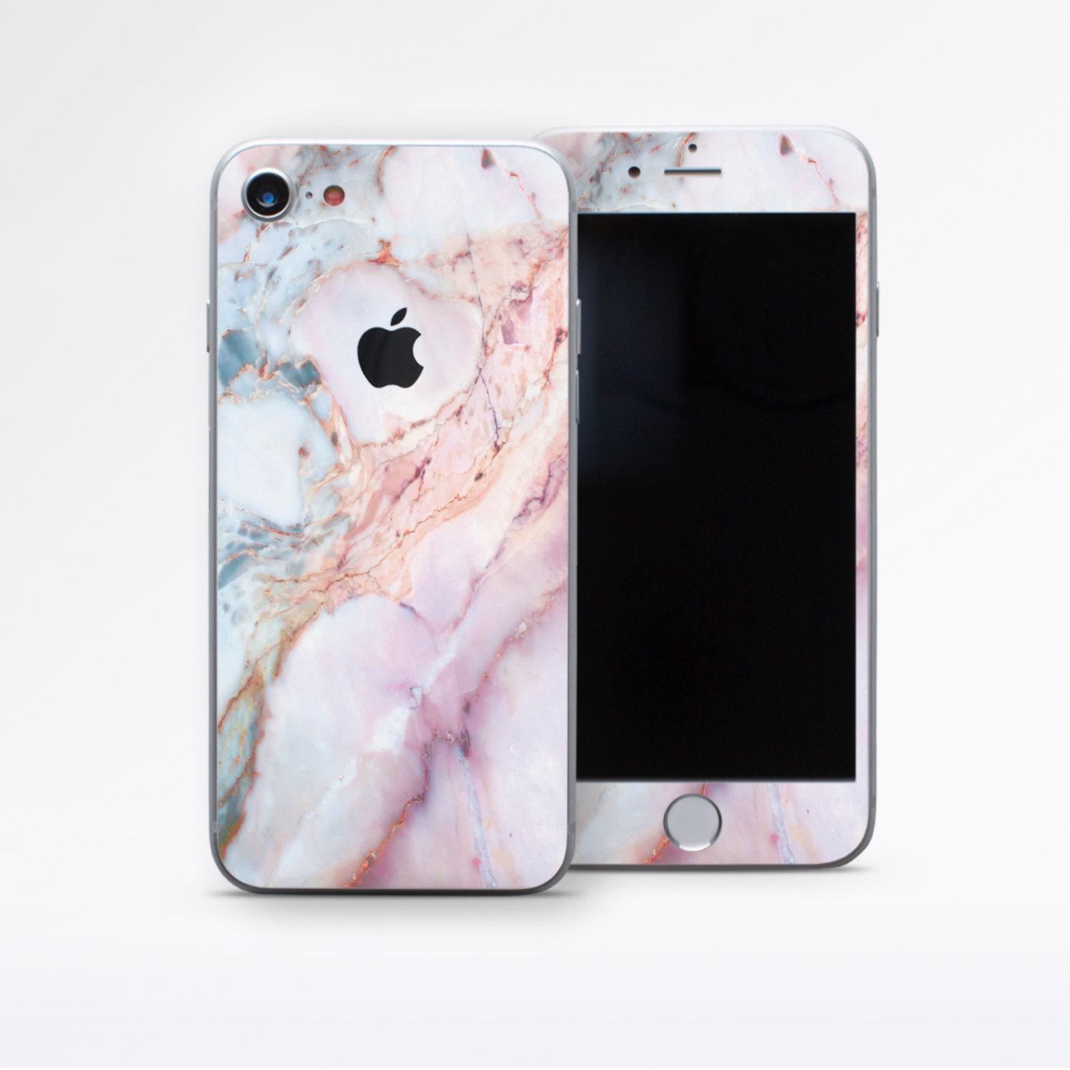 the latest 5c871 275ca iPhone Skin iPhone 6 Skin iPhone X Skin Pink Marble Decal IPhone 8 Plus  Sticker IPhone 7 Decal IPhone 6S Plus Skins IPhone SE Sticker DR3637