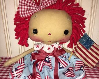 Americana Raggedy Annie Doll