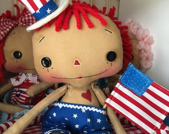 Raggedy Andy Uncle Sam Doll