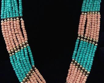 African Multi Strand Necklace