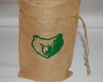 Burlap gift bag - customized