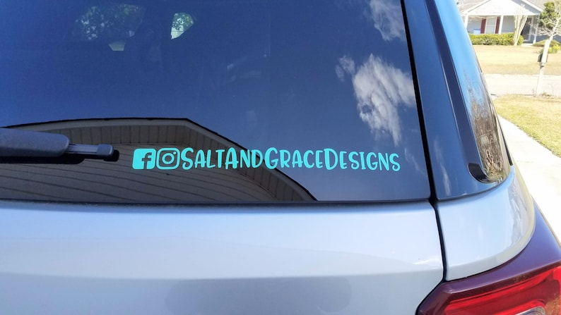 Username Personalized Decal Social Media Handle Follow Me Instagram Car Decal Twitter Business Sticker Facebook Name Sticker for Car